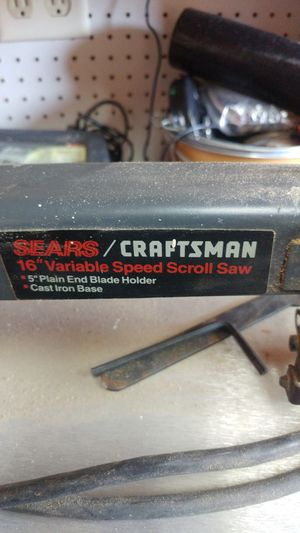 Craftsman variable speed scroll saw for Sale in Glen Burnie, MD