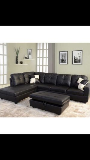 🔥New! Black comfy sofa chaise sectional set for Sale in Escondido, CA