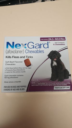 Nexgard 6 month supply (24-60lb dogs) for Sale in Battle Ground, WA