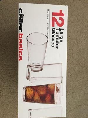 Cellar basic large tumbler glasses for Sale in Falls Church, VA