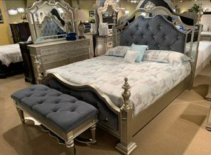 $39 Down  🍃🍂 BEST DEAL Opulent Silver Queen Bedroom Set | B878 289 for Sale in Jessup, MD