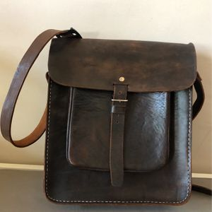 EUC Handmade Buffalo Leather Messenger Bag for Sale in Irvine, CA
