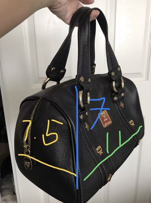 PRE-LOVED M.C.M. BLACK LEATHER BAG for Sale in Arcadia, CA