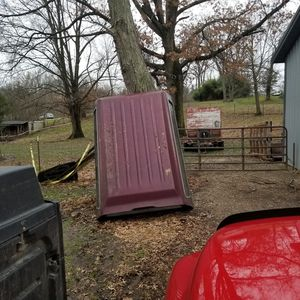 Free- older 8 ft bed full size truck bed cap. Came off my pickup so I could put tall equipment in it. for Sale in Cleves, OH
