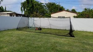 Batting cage, pitching machine and miscellaneous accessories for Sale in Coral Gables, FL