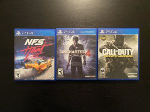 Ps4 games all for $80obo for Sale in Margate, FL