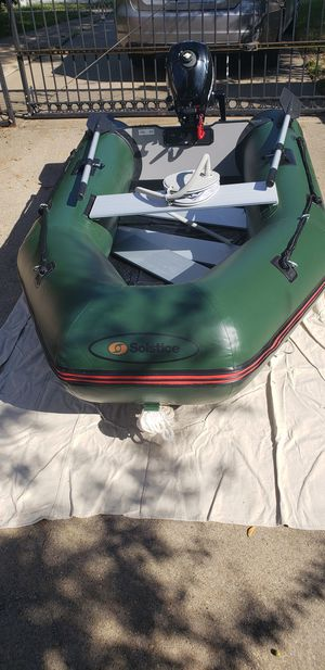 Inflatable 2 man boat used once. for Sale in Sachse, TX