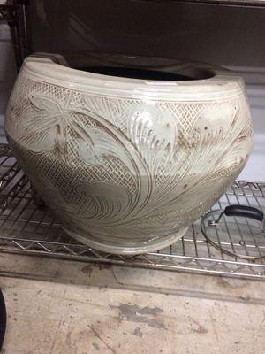 Vintage Modern white Glazed ceramic Planter Pottery for Sale in Fairfax Station, VA