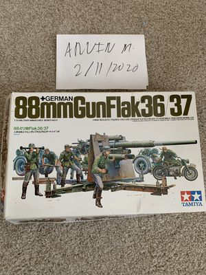 Tamiya 1/35 Model kit German 88mm Flak 36/37 world war 2 military complete diorama for Sale in Gaithersburg, MD