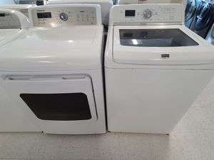 Maytag tap load washer and electric dryer mix and match set used in good condition with 90day's warranty for Sale in Mount Rainier, MD