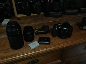 Nikon D3300 DSLR Digital Camera and 2 Nikkor AF-P SLR Lenses 18-55mm VR 2 / 70-300mm VR 2 Kit All in Pristine condition {{{{{{ it's all in the listi for Sale in Everett, WA