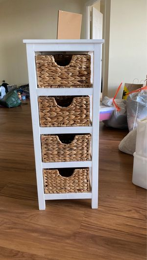 WOOD AND WICKER DRAWERS for Sale in Arlington, VA