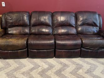 4-Seat Power Recliner Leather Sofa for Sale in Allen,  TX