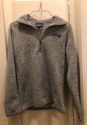 Patagonia Quarter 1/4 zip sweater jacket grey for Sale in Redlands, CA