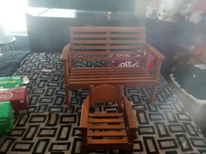 Little bench and baby chair set for Sale in Wichita, KS