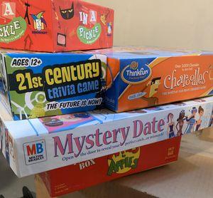 Assorted board games and puzzles for Sale in La Grange, IL