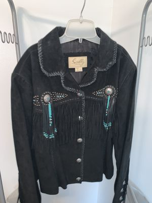 Skully leather & suede fringe jacket for Sale in Willow Springs, IL