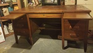 Antique Solid Oak Wooden Desk for Sale in Damascus, OR