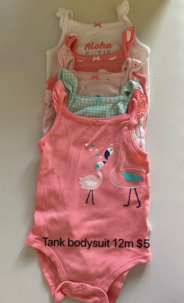 Baby girl tank bodysuit 12m