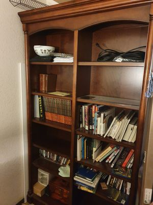 Large solid wood book case. $200 firm for Sale in Las Vegas, NV