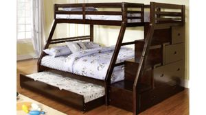Twin over Full bunk bed with staircase $759 for Sale in Spokane, WA