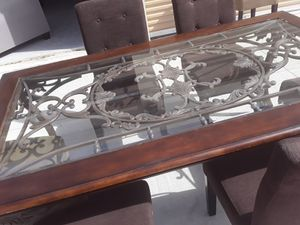 Nice antique table with chairs for Sale in Four Corners, FL