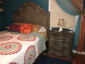 Queen bed bedroom dresser nightstand set for Sale in Richmond, VA