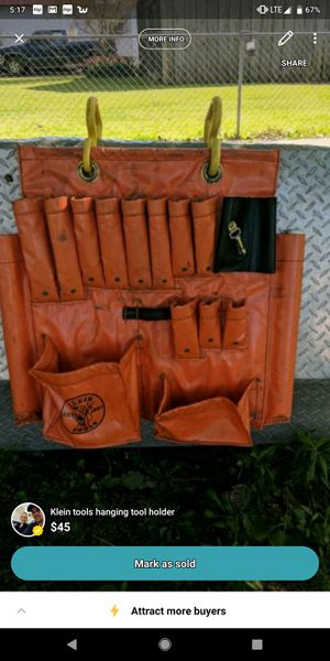 Klein tools hanging tool bag for Sale in Simmesport, LA
