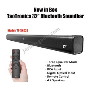 New 40W Bluetooth Sound Bar Loud Speaker With Remote TT-SK023 Excellent Sound Quality Equalizer Mode for Sale in Riverside, CA