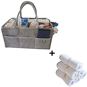 On Sale- Baby Diaper Caddy Organizer + Extra Soft Bamboo Washcloths Set for Sale in Avon, MA