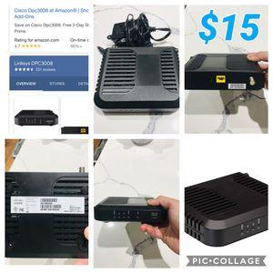 Cable Modem Cisco DPC3008 (Comcast, Spectrum, Cox Version) DOCSIS 3.0 for Sale in Plano, TX