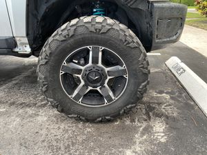 """4 Mud tires and 20"""" rims excellent condition for Sale in Pompano Beach, FL"""