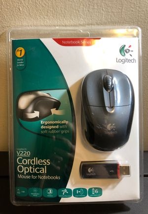 Logitech Wireless Mouse, V220 cordless optical mouse for notebooks, pc, Mac for Sale in Los Angeles, CA