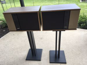 Bose 301 series II speakers with stands - needs new woofer foam surrounds for Sale in Romeoville, IL