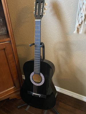7/8 Size Black Acoustic Guitar with Extra Strings, Pick, Cover, Strap $75 Firm for Sale in Arlington, TX