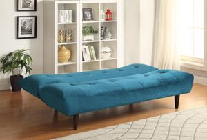 🐳Brand New Sofa Beds and Futons - Teal Velvet Sofa Bed with Solid Wood Legs & Tufted Back! for Sale in Atlanta, GA
