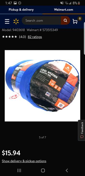 Sleeping bags 35° 20 available for Sale in Bakersfield, CA