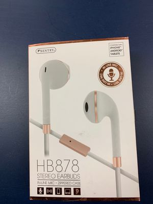 Sentry Stero Earbuds HB878 - new for Sale in New Cumberland, PA