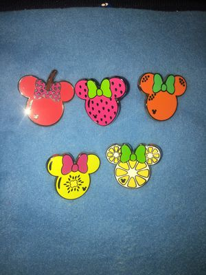 AUTHENTIC Disney Pins Minnie Fruits Full Set of 5 for Sale in San Diego, CA