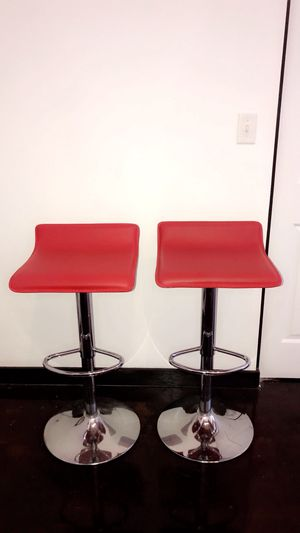 Red seated bar stools for Sale in Spartanburg, SC