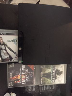 PlayStation 3 + 3 Games for Sale in Los Angeles, CA