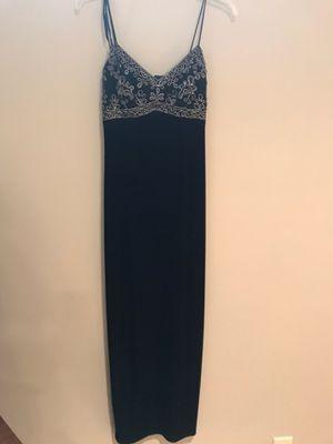 Black velvet long dress for Sale in Quincy, IL