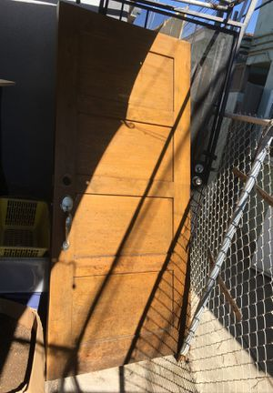 Front door,real wood. for Sale in San Diego, CA