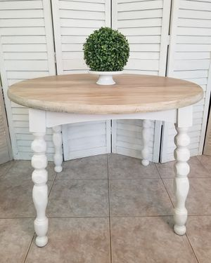 Rustic 42 Round Solid Wood Dining Kitchen Table Revamped - Farmhouse - Coastal for Sale in Trinity, FL