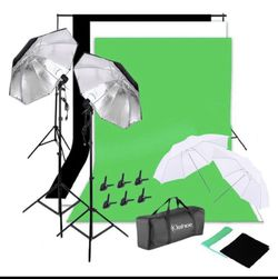 Photo Video Studio Lighting Photography Backdrops Stand Muslim Photo Light Kit for Sale in Miami,  FL