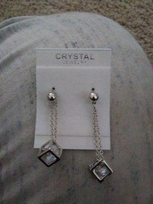 Diamond cube earrings for Sale in Lawrenceville, GA