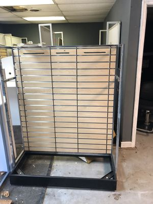 Sears clothing racks, glass jewelry cases, over 300 pcs, must sell, make an offer for Sale in US