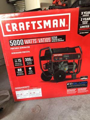 Brand new Craftsman 5000 W Generator for Sale in Brandon, FL