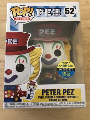 SDCC 2019 Funko POP! Ad Icons PEZ Peter PEZ #52 Toy Tokyo *Limited Edition* for Sale in San Diego, CA