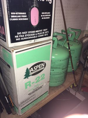 R22 Freon 30lb new factory sealed cylinders for Sale in Granite Bay, CA